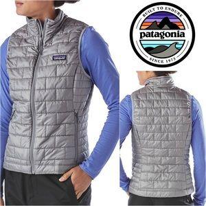 NWOT Patagonia Nano Puffer Vest in Silver
